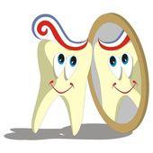 Tooth cartoon set 004