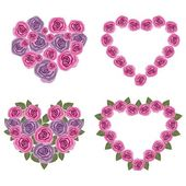 Hearts flower set 02