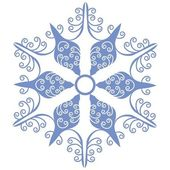 Vector Isolated snowflake in color 01