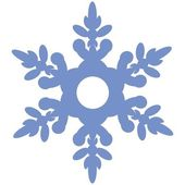 Vector Isolated snowflake in color 02