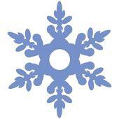 Isolated snowflake 02