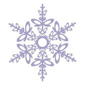 Vector Isolated snowflake in color 03