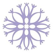 Vector Isolated snowflake in color 04