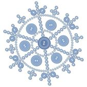 Vector Isolated snowflake in color 05
