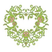 Vector Ornament heart in color 72