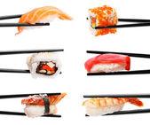 Sushi hůlkami