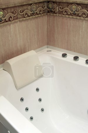 Photo for Bathtub in a luxurious bathroom - Royalty Free Image