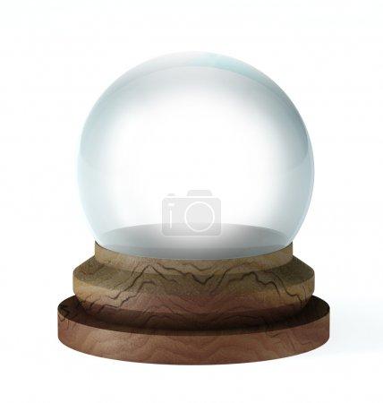 Photo pour Boule de cristal vide - image libre de droit