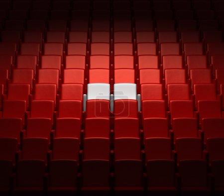 Photo for Auditorium with two reserved seats - Royalty Free Image