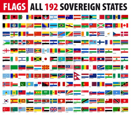 All 192 Sovereign States, World Flags Series