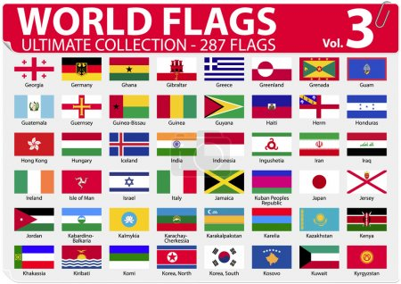 World Flags - Ultimate Collection - 287 flags - Volume 3