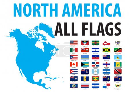 North America All Flags