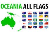 """Постер, картина, фотообои """"Океании все флаги"""""""