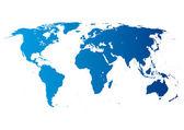 Mapa světa s kontinenty
