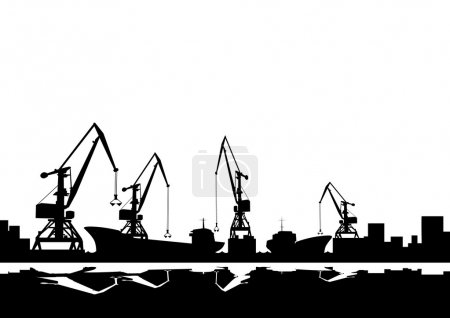 Port cranes and ships