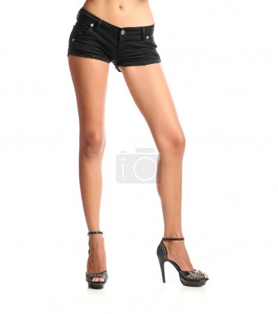 Standing Girl In Shorts.