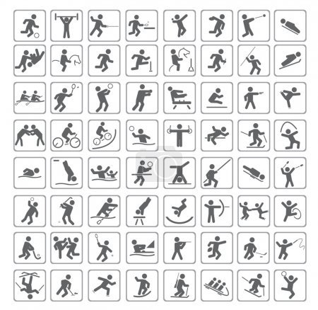 Illustration for Set of sport icons. Vector illustration for you design - Royalty Free Image