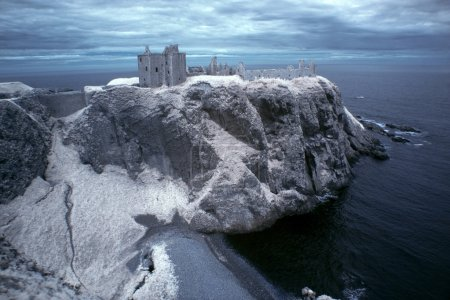 Dunnottar Castle ruined medieval fortress located upon a rocky h