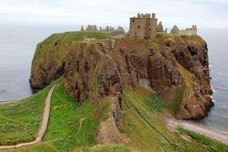 Photo pour Dunnottar castle, Écosse, Royaume-Uni - image libre de droit