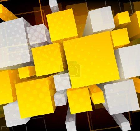 Background wiht 3d cubes