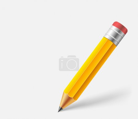 Illustration for Orange pencil on gray background - Royalty Free Image