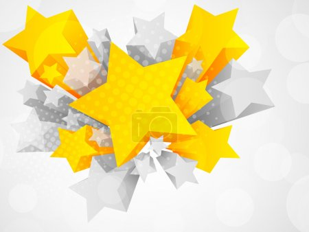 Background with 3d star