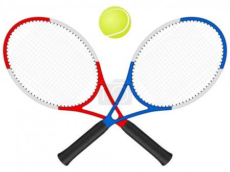 Tennis rackets аnd ball