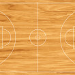 Wooden basketball court. Vector illustration...