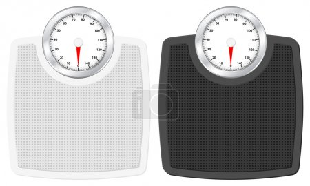 Illustration for Bathroom scale set on white background. Vector illustration. - Royalty Free Image