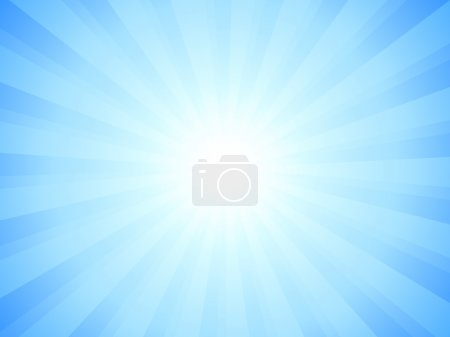 Illustration for Blue sky and sun. Vector illustration. - Royalty Free Image