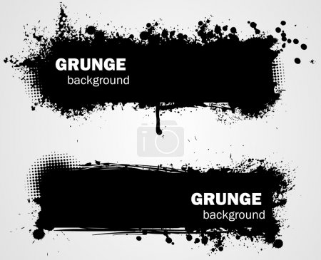 Grunge backgrounds in black color