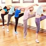 Women group in aerobics class....