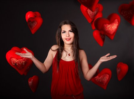 Girl with group heart,