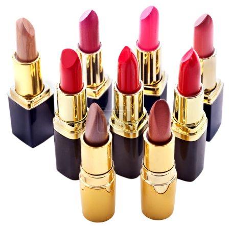 Lipstick group. Decorative cosmetics.