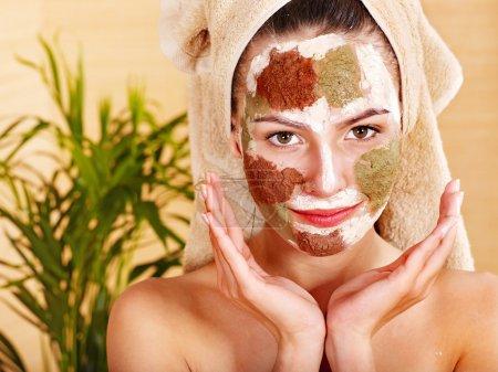 Photo for Natural homemade clay facial masks at home . - Royalty Free Image