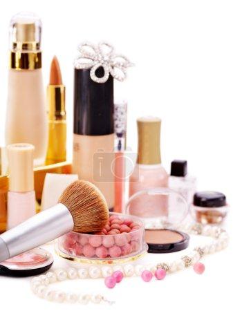 Photo pour Cosmétiques décoratifs pour le maquillage. Gros plan . - image libre de droit