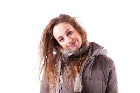 Photo pour Portrait de jeune femme - image libre de droit