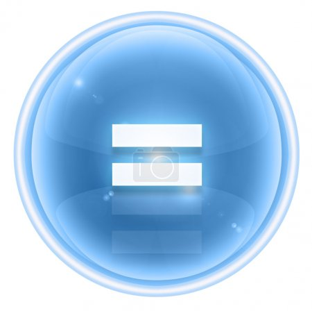 Photo pour Signer tout aussi glace icône, isolée sur fond blanc - image libre de droit