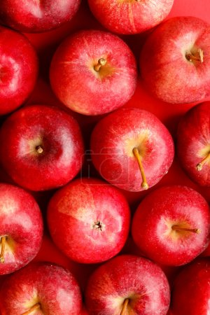 Photo for Background with fresh red apples - Royalty Free Image