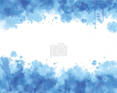 Illustration for Blue water color vector background - Royalty Free Image