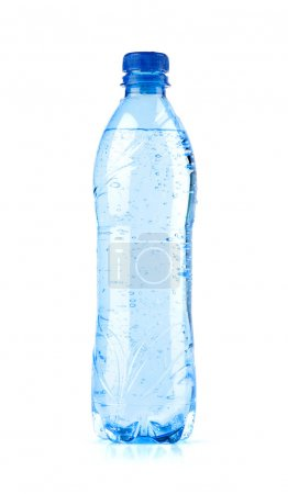 Photo for Bottle of water isolated over a white background - Royalty Free Image
