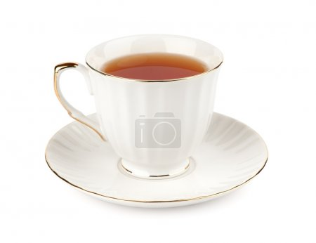 Photo for Cup of tea isolated on white - Royalty Free Image