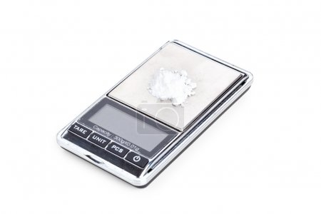 Cocaine on digital scales