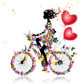 Flower girl bike with air valentines