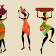 African women in traditional dress...