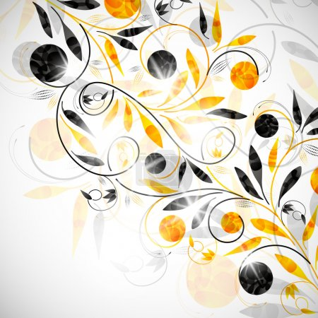 Illustration for Floral abstract background - Royalty Free Image