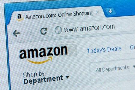 Amazon start page.