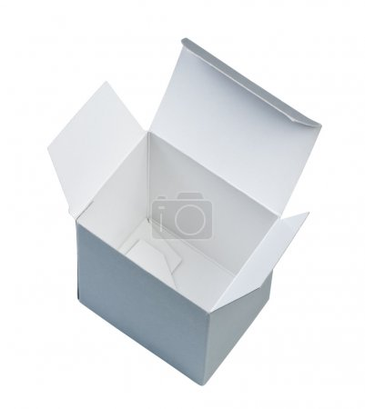 Photo for Empty cardboard box isolated on white background top view. - Royalty Free Image