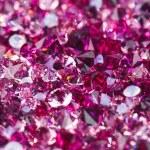 Many small ruby diamond stones, luxury background ...