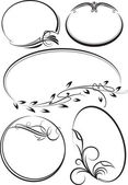 Beautiful collection of oval frames Vector